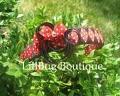 LiliBug Minnie Mouse Woven Headband and Clip Set