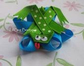 LiliBug Froggie on a LilyPad  Hair Clip