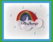Over the Rainbow Hair Clip