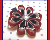 LiliBug Small Patriotic Loopy Hair Bow