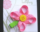 LiliBug Flower Hair Clippie - YOU PICK THE COLORS