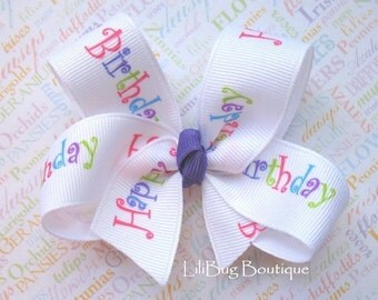 LiliBug HAPPY BIRTHDAY Celebration Hair Bow