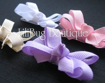 LiliBug You Pick the Colors - M2M Mini HairBow Set of 4 - Solids