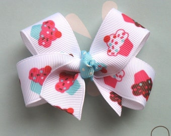 LiliBug Birthday Celebration Cupcake Hair Bow