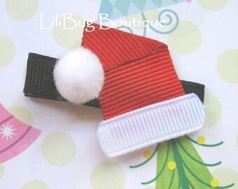 LiliBug Ho Ho HO Santa Hat Hair Clip