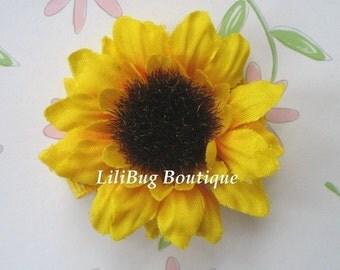 LiliBug Summer SUNFLOWER Hair Clip