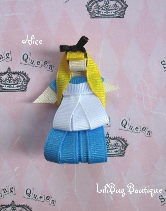 LiliBug ALICE in Wonderland Hair Clip Bow