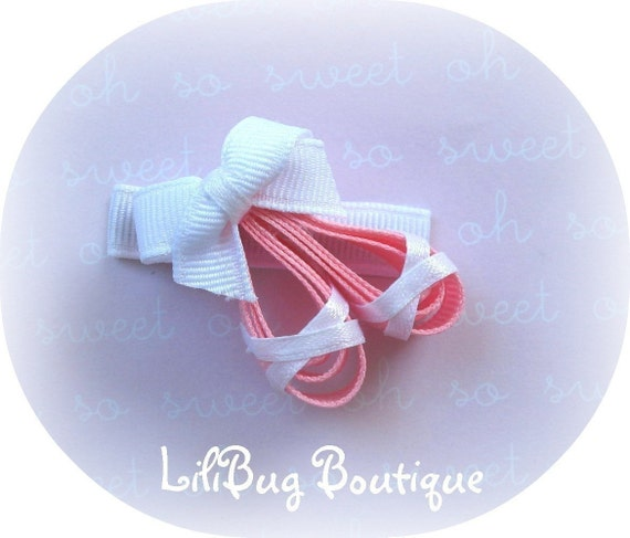 LiliBug Ballet Slipper Ballerina Hair Clip