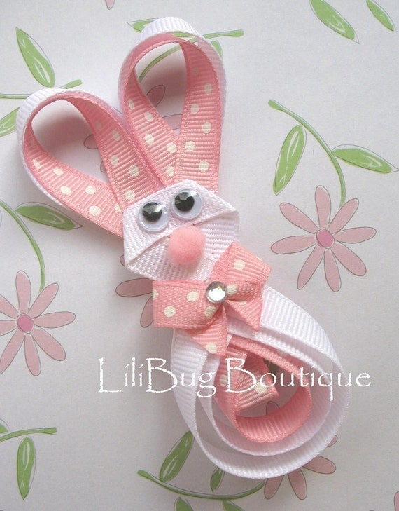 easter kid craft ideas items similar to lilibug hoppity easter bunny hair clip 4326