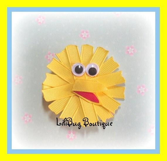 LiliBug BIG BIRD Sesame Street Hair Clip