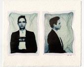 Johnny Cash Mug Shots - Polaroid Emulsion Lift