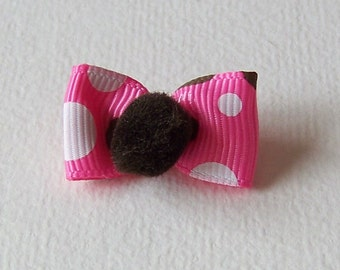 Small dog bows 10 single top knot yorkie toy miniature puppy