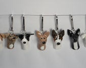 Natural Color Greyhound Zipper Pull