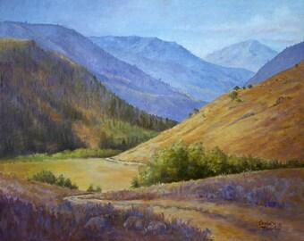 Giclee Print- Landscape - Mountain Canyon - springtime