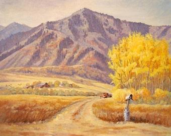 Print - Giclee - Landscape - Mountain - Ranch - Mailbox