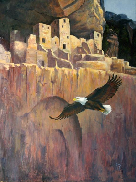 Giclee Print - Cliff Dwelling - Eagle - Aerie