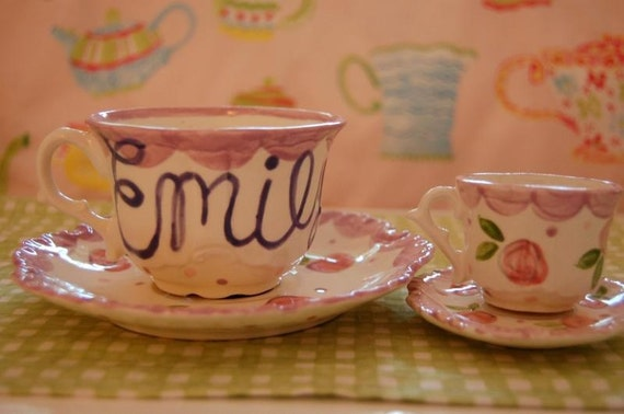 Mommy and Me tea for two matching tea cup sets