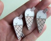 Ice Cream - Small Illustrated Pin Badge