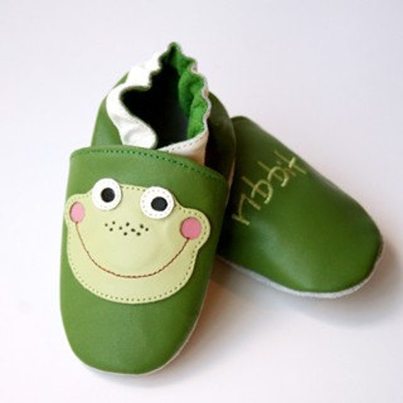 Bugaloo Froggy soft soled leather baby shoes