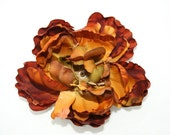 Rich Brown Tones Peony - 4.5 inches - artificial flowers, silk flowers, artificial flower, silk flower - ITEM 0734