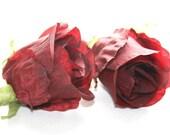 OVERSTOCK SALE: Soft Silk Rose in Burgundy - Silk flowers, artificial flowers. was 2.25