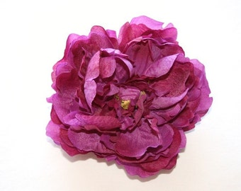 OVERSTOCK SALE: silk flower - Dry Silk Peony in Two Tone Purple - 5 inches. was 5.25