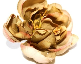 OVERSTOCK SALE: Green and Cream Toned Peony - silk flowers, artificial flowers, silk flower, artificial flower. was 2.89