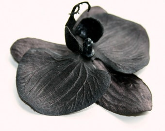 Black Orchid ...   3.5 inch size - Artificial Flowers - ITEM 0628