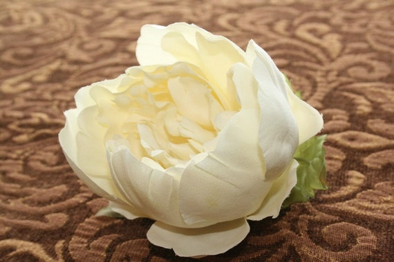 3 Cream Ivory Peony Roses -- Grab Bag seconds