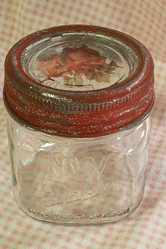 Scarce Vintage Wide Mouth Squat Pint Mason Jar By Sparkklejar
