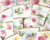 Broken China Mosaic Tiles - Pastel Vintage Chintz -  Over 100 pieces of tile