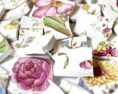 Broken China Mosaic Tiles - Rose Chintz  -  Over 100 pieces of tile