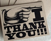 Recycled Kraft Paper Card Set - I Thank You -(6)