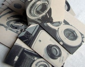 Focus Vintage Cameras Recycled Kraft Paper Card Set (8)