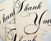 4 Regal Thank You Cards