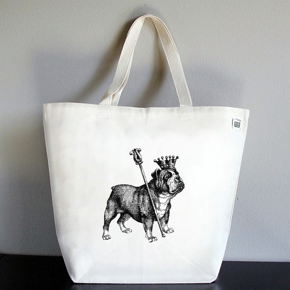 AS FEATURED IN APRIL 2010 LUCKY MAGAZINE - RECYCLED CLASSIC TOTE - Royal Bulldog