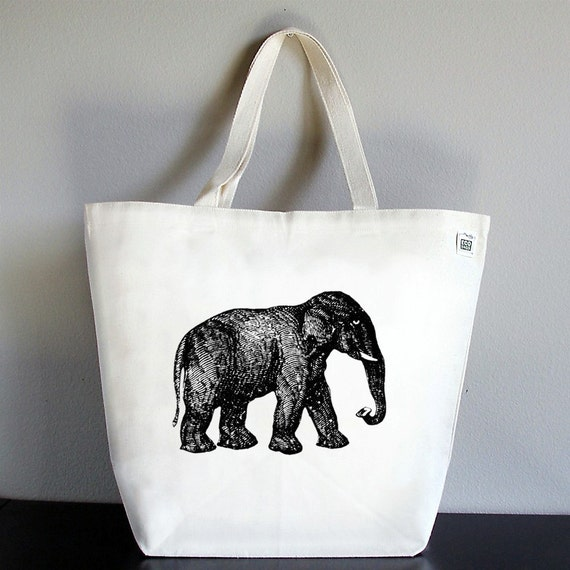 RECYCLED CLASSIC TOTE - Elephant