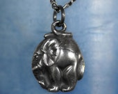 Necklace in Silver - African Elephant   - Made to Order