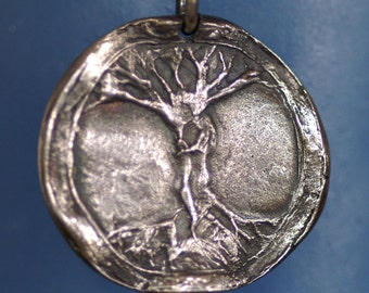 Necklace or Pendant - Silver - Center of the World (axis mundi) - Made to Order