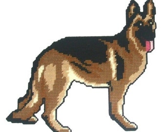 German Shepherd Wall Hanging Plastic Canvas PDF PATTERN ONLY  **Not Finished Product**