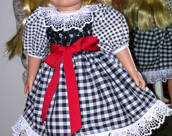 Dress For 18-inch American Girl Size Doll, Handmade by me