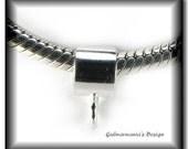 GUB - 5 x SMOOTH Handmade Sterling Silver Charm Bails fits Pandora Biagi