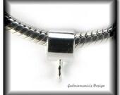 GUB - SMOOTH Handmade Sterling Silver Charm Bail fits Pandora Biagi