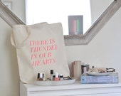 thunder in our hearts tote in fluro pink