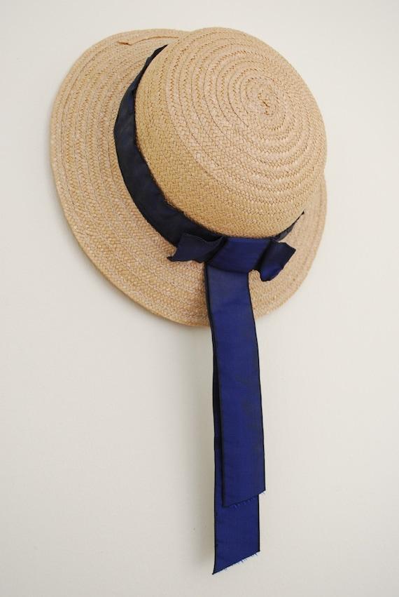 vintage italian summer straw hat