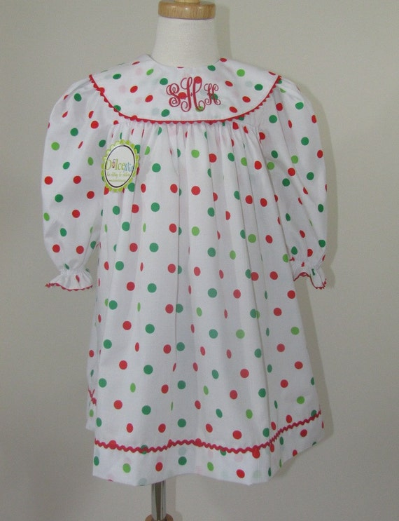 Long sleeve christmas dresses christmas monogram dress long sleeves
