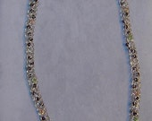Sterling Silver Woven and Beaded Knitted Necklace