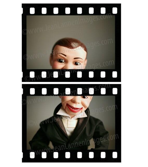 Charlie Speak Up - 8x10 Photograph - Vintage Ventriloquist Dummy Puppet Mannequin Tuxedo in Hollywood Oscars Film Movies by Jean Lannen