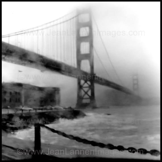 The Foggy Bridge San Francisco Golden Gate Bridge Archival