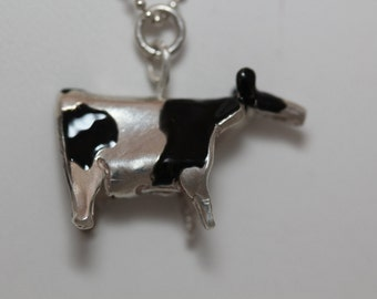 Cow Necklace Sterling Silver